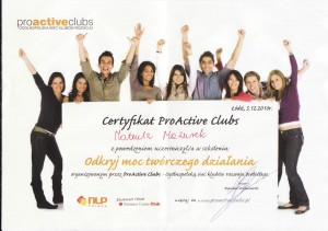 Certyfikat ProActive